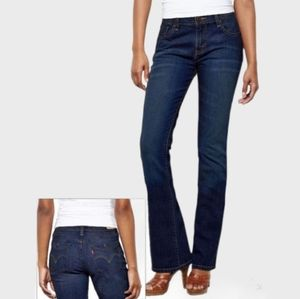 LEVI'S 515 GREAT COND BOOT CUT DARK BLUE JEANS